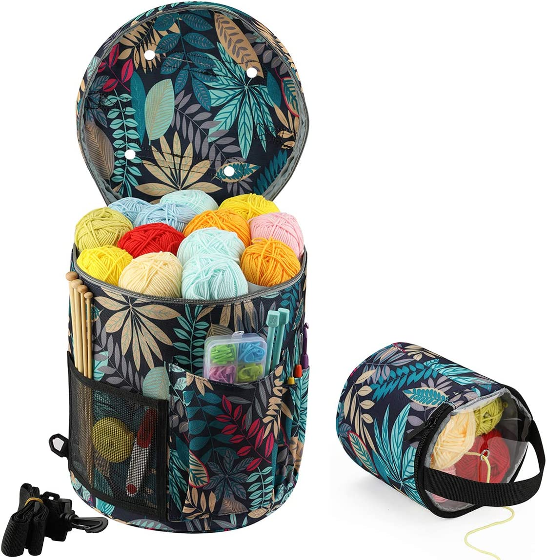 JOZEA Knitting Bag Portable Light and Yarn Easy store Stor to Easy-to-use Carry