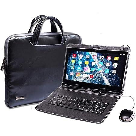 Tablet PC con teclado (AZERTY) Android Smartphone libre Dual SIM Quad Core, ordenador portátil, 16 GB ROM, doble cámara, doble cámara, phablet incluye ...