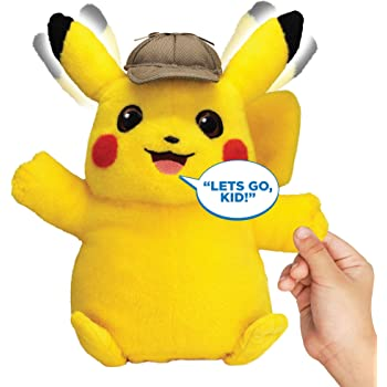 Amazon Com Latim Detective Pikachu Plush Toy Cuddly Detective