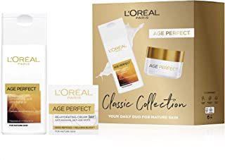 L'Oreal Paris Gift set for her by Age Perfect, Cleanser & Day Cream Classic Collection Skin Care Gift Set
