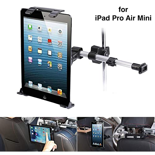 360° Tablet Mount Holder Car Headrest Stand Extend for Samsung iPad Pro Mini