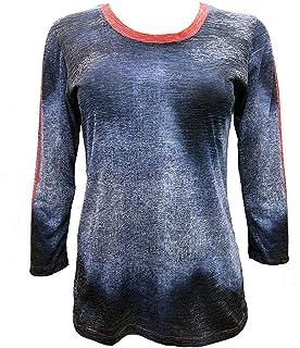 Athleisure Denim Crew Neck LS Sweater, Womens Activewear