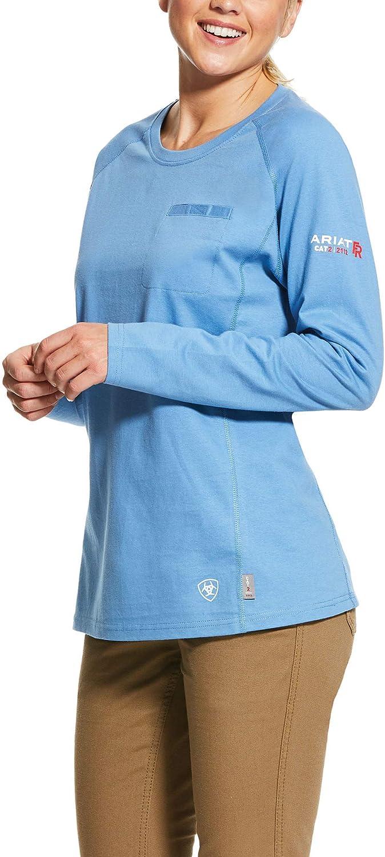 ARIAT Women's Steel Max 43% OFF Blue Heather Air T-Shirt Fr Ranking TOP20 Crew