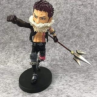 LF-YGJ Estatua de Anime Luffy Sanji Zoro Charlotte Katakuri Battle Ver.PVC Muñeca Humanoide Modelo Anime One Doll