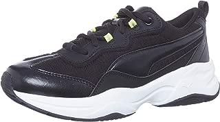 Puma Cilia Shift Kadın Sneaker, Çok Renkli (Puma Black-Nrgy Yellow-Puma Silver-Puma White 01), 40.5