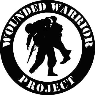 Wounded Warrior Project Vinyl Decal Car Sticker (White)