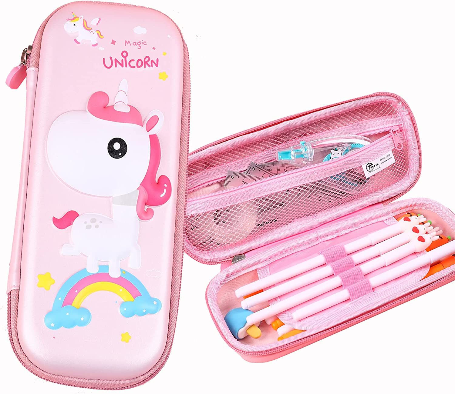 Unicorn Beauty products Pencil Box for Genuine Free Shipping Teen Girls Pouch Cartoon and Kids 3D Pen