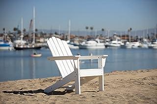 LuXeo LUX-1519-WHT Marina Adirondack Chair, Single, White