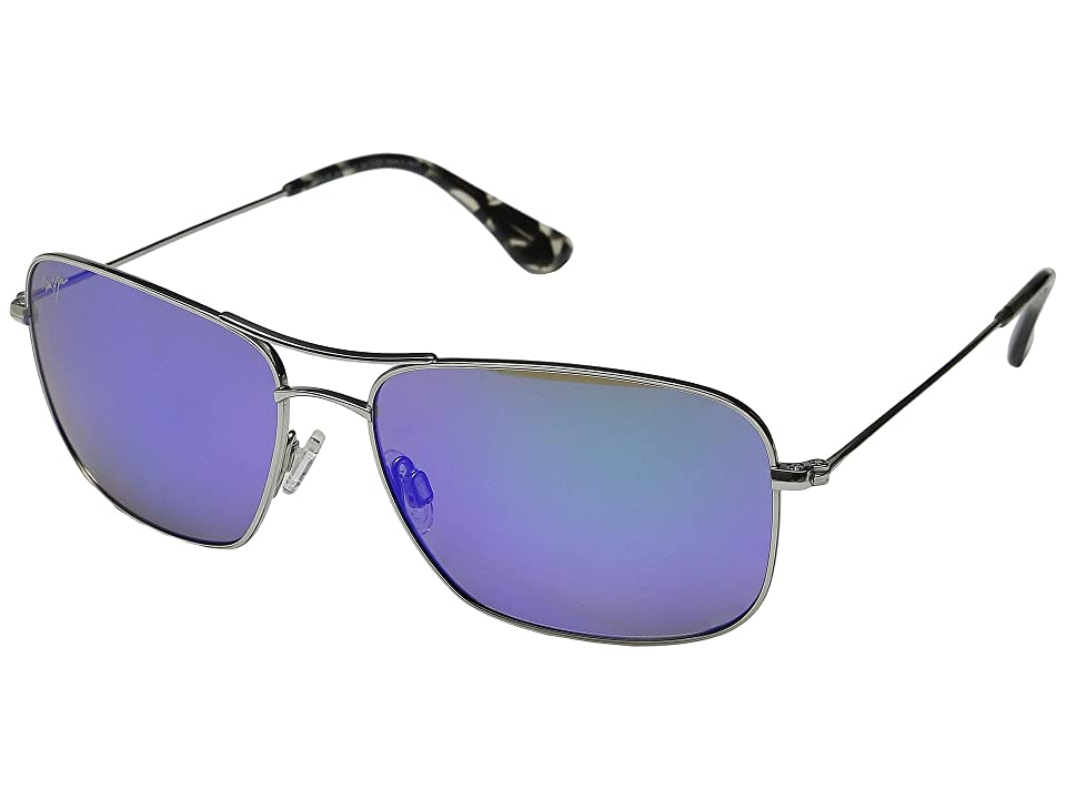 Maui Jim Wiki Wiki (Silver/Blue Hawaii) Sport Sunglasses