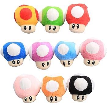 Amazon Com Uiuoutoy Super Mario Bros Red Super Mushroom Stuffed