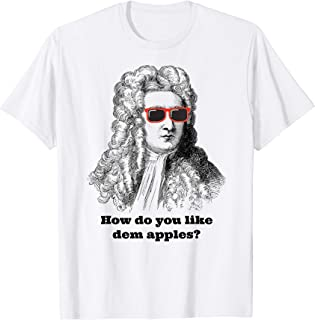 Sir Isaac Newton Funny Apple Gravity T-Shirt