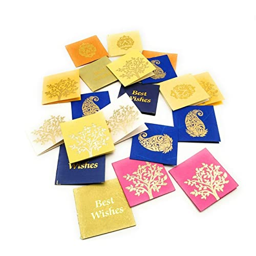 Satyam Kraft Paper Small Traditional Print Multipurpose Gift Tag For Crafts 65x02x6