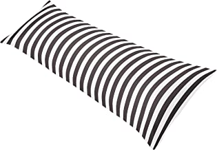 Sweet Jojo Designs Pink, Black and White Stripe Paris Full Length Double Zippered Body Pillow Case Cover