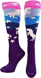Neon Unicorn Socks Over The Calf