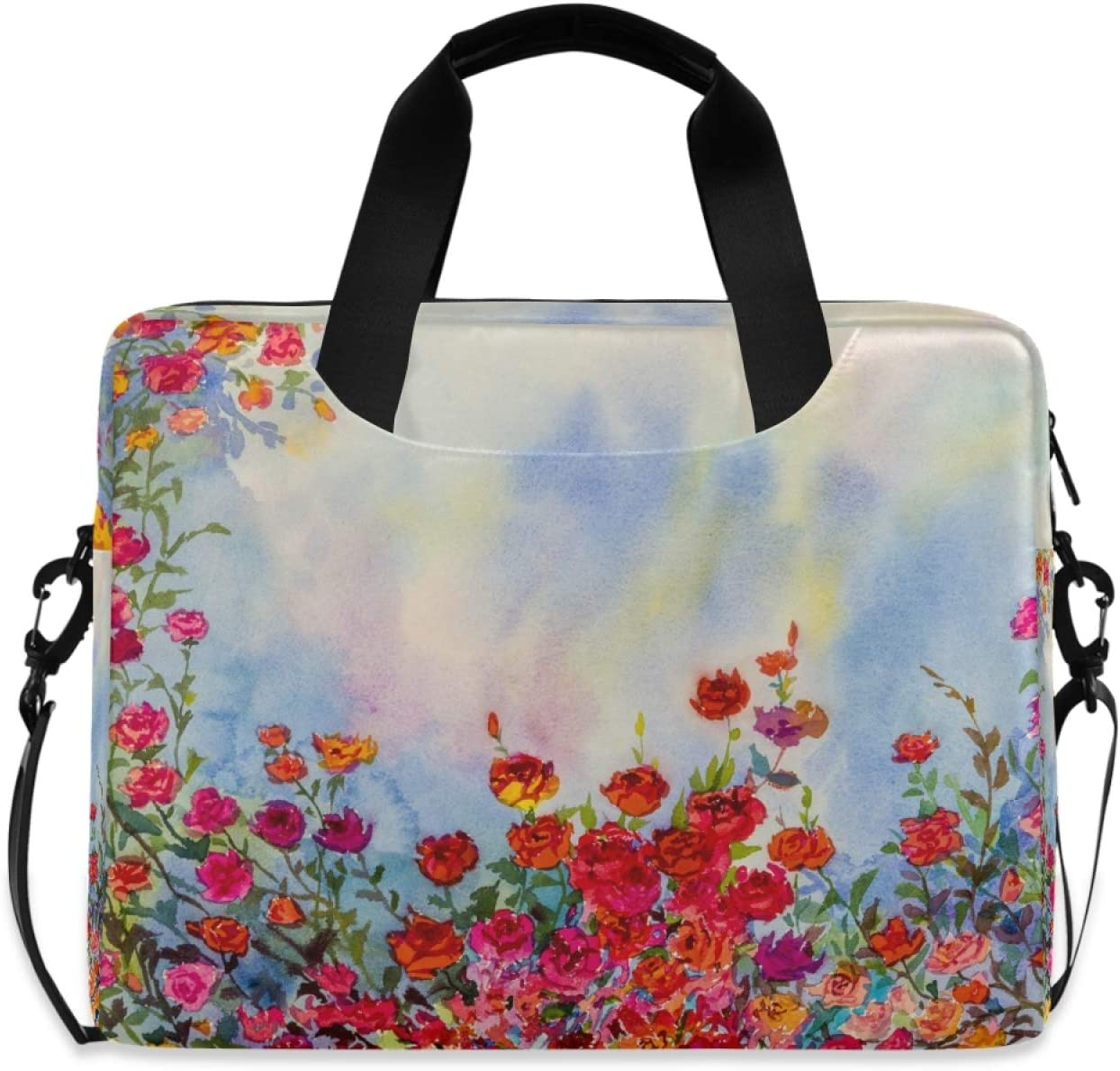 Ombra Laptop Shoulder Large discharge sale Bag Art Painting La Flower Floral Portable Max 51% OFF