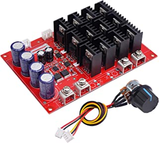 Motor Controller, DROK PWM DC Motor Speed Controller 10-50V 60A High Power HHO RC Driver PWM Controller Module 12V 24V 48V...