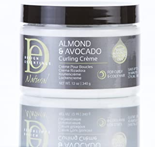 Design Essentials Natural Almond & Avocado Curling Creme For Curly Coily Hair - 12 Oz