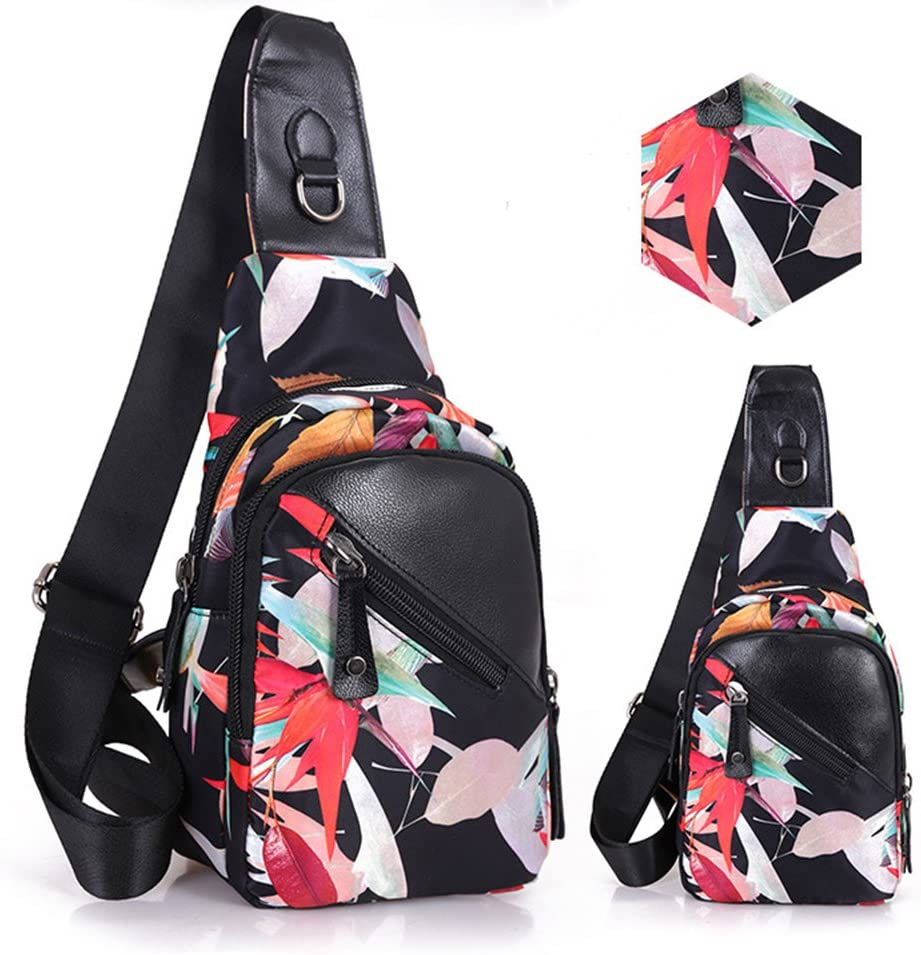 Estwell Sling Bag Chest Unbalance Shoulder Backpack Men Women Waterproof Crossbody Bag Chest Pack for Casual Sport Travel Hiking Cycling
