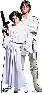 Advanced Graphics Luke & Leia Life Size Cardboard Cutout Standup - Star Wars 40th Anniversary