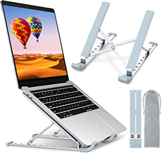 STOON Laptop Stand, Laptop Holder Riser Computer Stand, Aluminum 9-Angles Adjustable Ventilated Cooling Notebook Stand Mou...