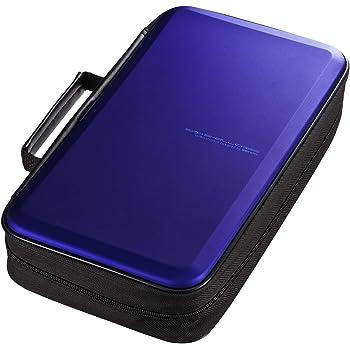 サンワサプライブルーレイディスク対応セミハードケース(104枚収納・ブルー)FCD-WLBD104BL