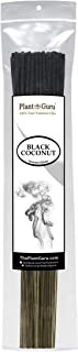 Plant Guru Black Coconut Incense Sticks, 185 Grams in Each Bundle 85 to 100, Premium Smooth and Clean, Each Stick is 10.5 Inches Long Burn Time is 45 to 60 Minutes Each.