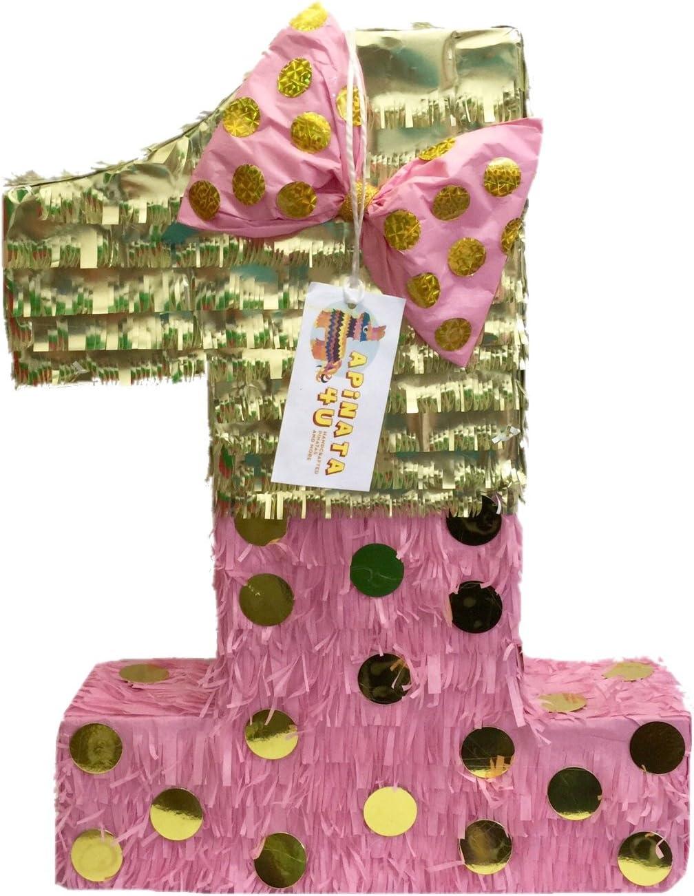 APINATA4U Large 4 years warranty Atlanta Mall Pink Gold with Bow 23