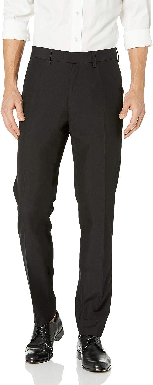 Haggar Men's Twill Slim-Fit Flat-Front Suit-Separate Pant