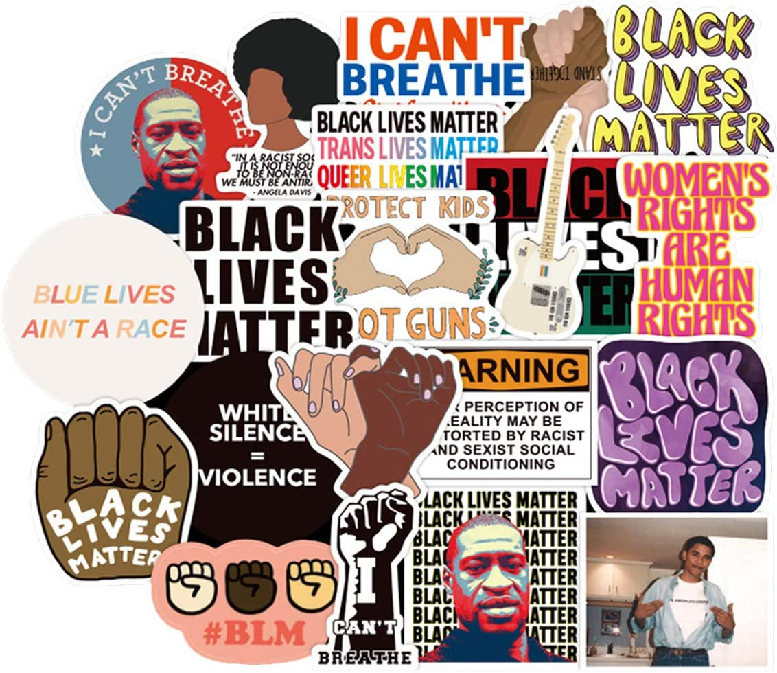50PCS Black Lives Matter Political Movement 50 Pack Stickers Label ...
