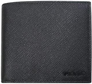 Black Saffiano 1 Leather Billfold Bi-fold Credit Card Wallet 2MO513