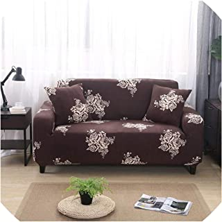 Spandex Sofa Cover Stretch Sofa Covers for Living Room Cubre Sofa Slipcovers for Armchairs Sectional Couch Covers 1 4 Seater,Color 24,2-Seater(145-185Cm)
