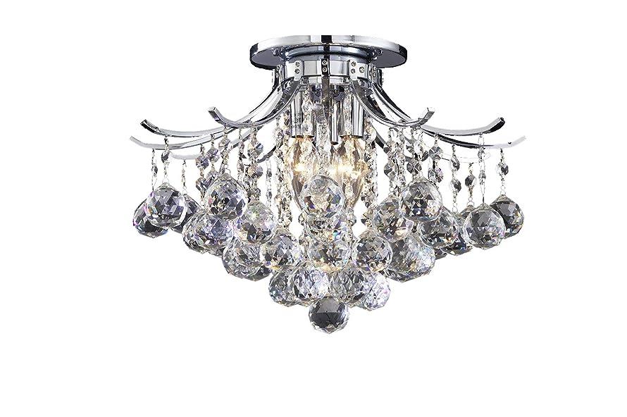 Broadway Silver Flush Mount Crystal Chandeliers Modern Lamps Ceiling Fixture BL-CJJJ/F-L2 W12 X H10 Inch