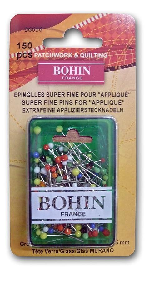 Bohin Glass Head Applique Pins, 150 Per Pack