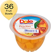 DOLE FRUIT BOWLS  Diced Peaches in 100% Fruit Juice, 4 Ounce (36 Cups)