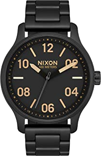 NIXON Patrol A1242 - Matte Black/Gold - 100 Meter / 10 ATM Water Resistant Men's Analog Classic Watch (42mm Watch Face, 21mm-19mm Band)