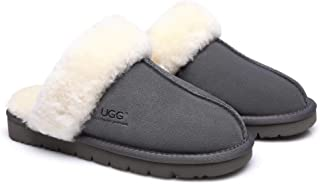 UGG Slippers Australia Premium Sheepskin Unisex Muffin Scuff Best Gifts for Womens Girls Shoes
