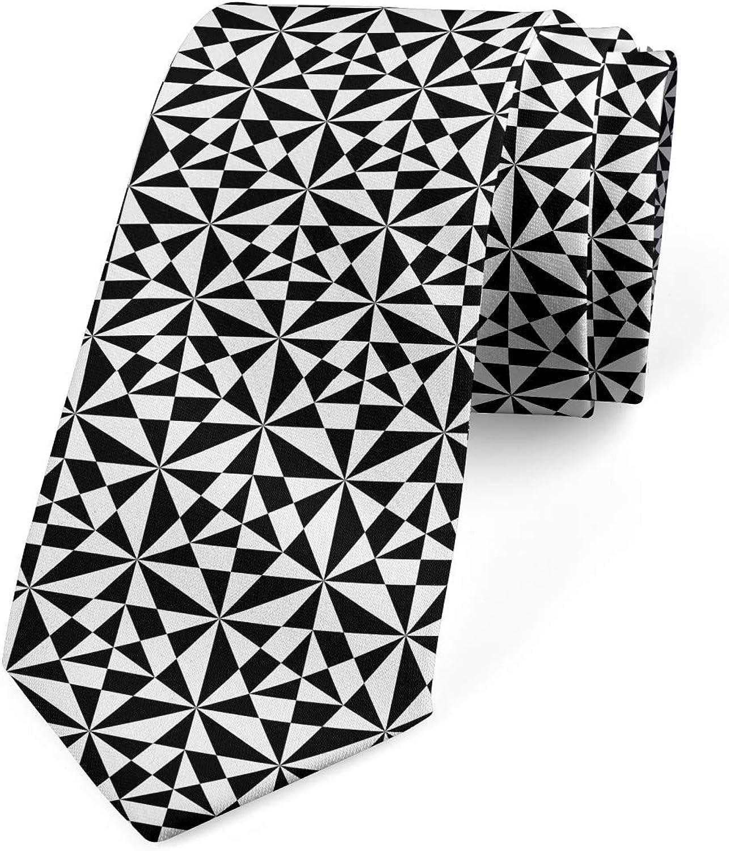 Lunarable Necktie, Modern Art Contrast, Dress Tie, 3.7