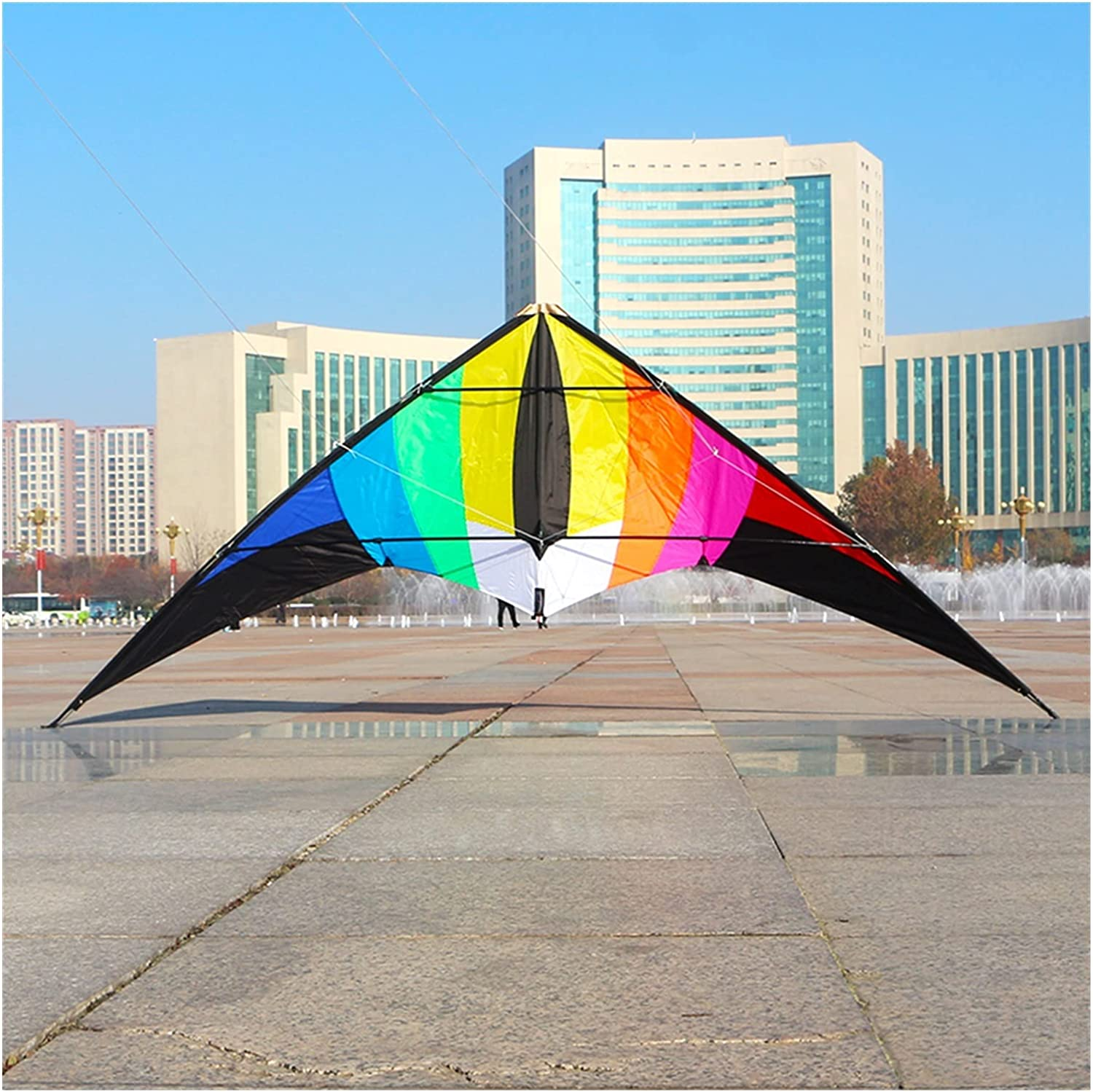 GUIYONGMY Kite 2.2m Deluxe New product Large Rainbow Kites lin line Stunt Dual