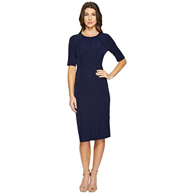 Maggy London Dream Crepe Sheath Dress with Elbow Sleeve (Patriot Blue) Women