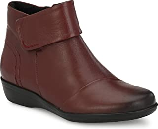 Delize Maroon Ankle Length Bootie