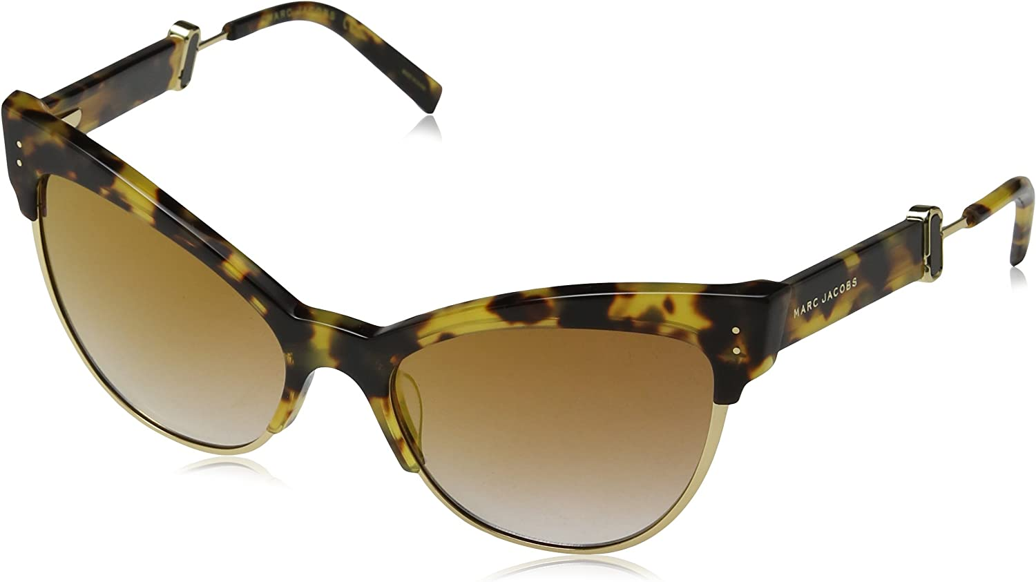 Marc Jacobs Marc 128 S LSH (Havana  gold with Grey Gradient with gold mirror effect lenses)