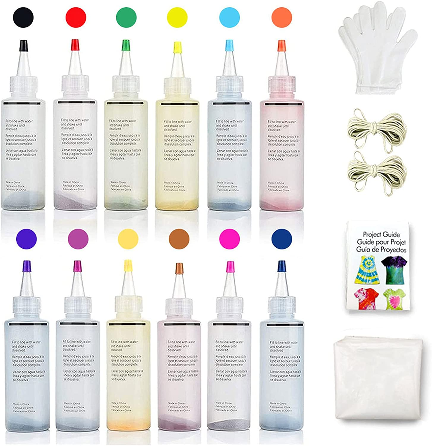 DoreenBow Tie Dye 12 Recommended Colors for Kit Kids Adults Max 78% OFF 120ml