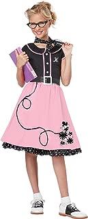 California Costumes Child's 50's Sweetheart Costume, Pink/Black, Medium