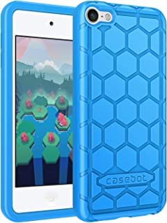 Fintie Silicone Case for iPod Touch 7 iPod Touch 6 iPod Touch 5 - (Honey Comb Series) Impact Shockproof Anti Slip Soft Protective Cover for iPod Touch 7th 6th 5th (Kids Friendly), Blue
