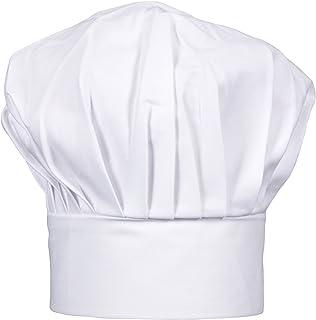 CHEFSKIN Big & Tall 2X XXL Mushroom Chef Hat, Fully Adjustable (White)