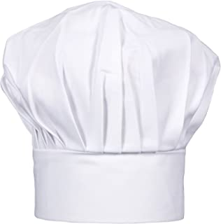 CHEFSKIN Chef Hat Adjustable White Adult Teen Light Twill Fabric Cook Baker (White)
