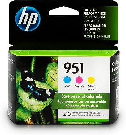 HP 951 Ink Cartridges: Cyan, Magenta & Yellow, 3 Ink Cartridges (CN050AN, CN051AN, CN052AN)