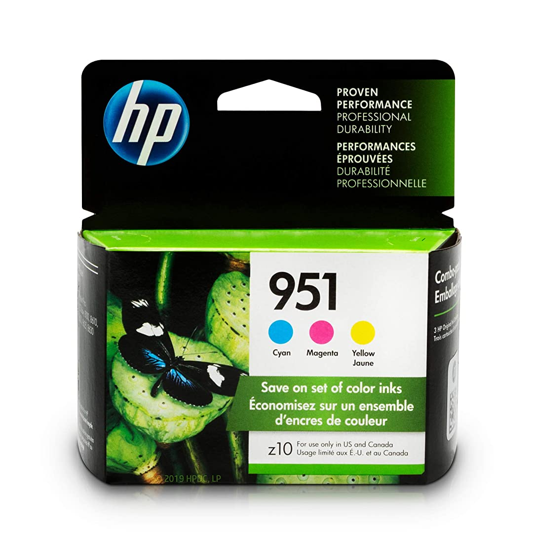 HP 951 Ink Cartridges: Cyan, Magenta & Yellow, 3 Ink Cartridges (CN050AN, CN051AN, CN052AN) ijh74025441