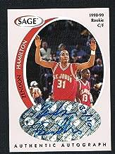 Zendon Hamilton 1998 Sage Authentic 37 /40 signed autograph auto Basketball Card