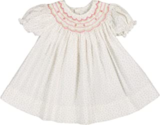 Petit Ami Baby Girls' Rosebud Floral Smocked Dress with Hat, Pink